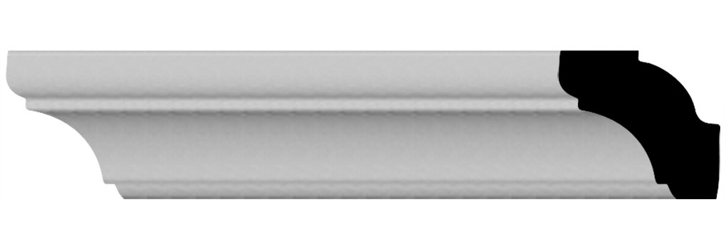 "1""H x 1 1/8""P x 1 1/8""F x 96""L Edinburgh Crown Moulding"
