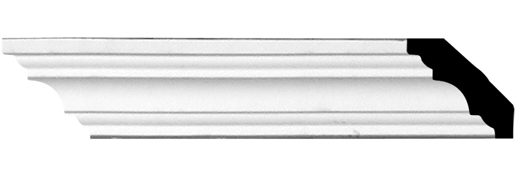 "1 1/4""H x 1 1/4""P x 1 5/8""F x 94 1/2""L Salem Crown Moulding"
