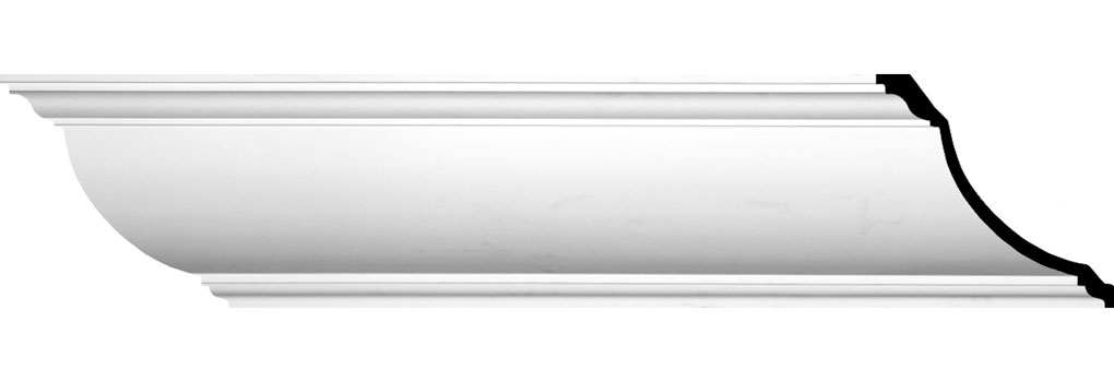"11 7/8""H x 11 7/8""P x 16 5/8""F x 94 1/2""L Claremont Crown Moulding"