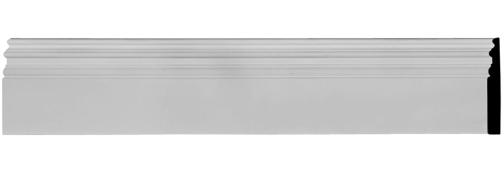 "7 3/8""H x 1""P x 94 1/2""L Hillsborough Baseboard Moulding"
