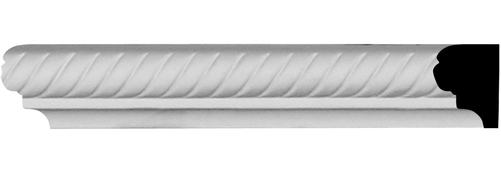 "1 3/8""H x 7/8""P x 94 1/2""L Alexandria Chair Rail"