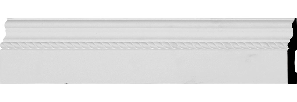 "4 7/8""H x 5/8""P x 94 1/2""L Oslo Rope Baseboard Moulding"