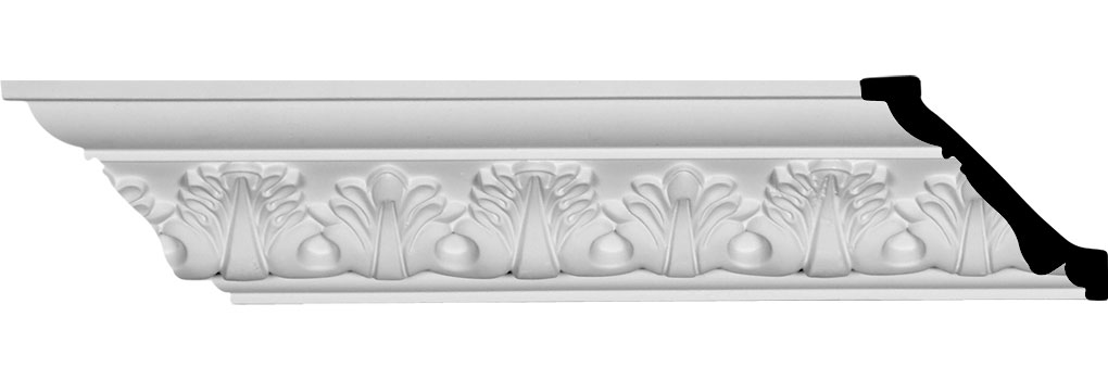 "2 7/8""H x 2 7/8""P x 4 1/8""F x 94 1/2""L Palmetto Crown Moulding"