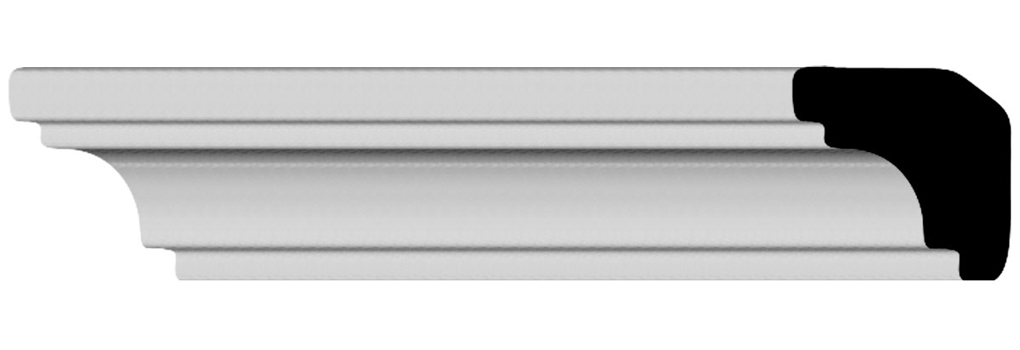 "3/4""H x 1""P x 1 1/2""F x 94 1/2""L Edinburgh Crown Moulding"