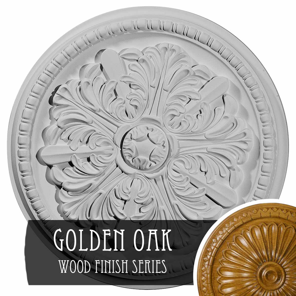 Ekena Millwork CM16GN Genevieve Ceiling Medallion Fits Canopies up to 3 1//2 16 1//8OD x 3 1//2ID x 7//8P Factory Primed