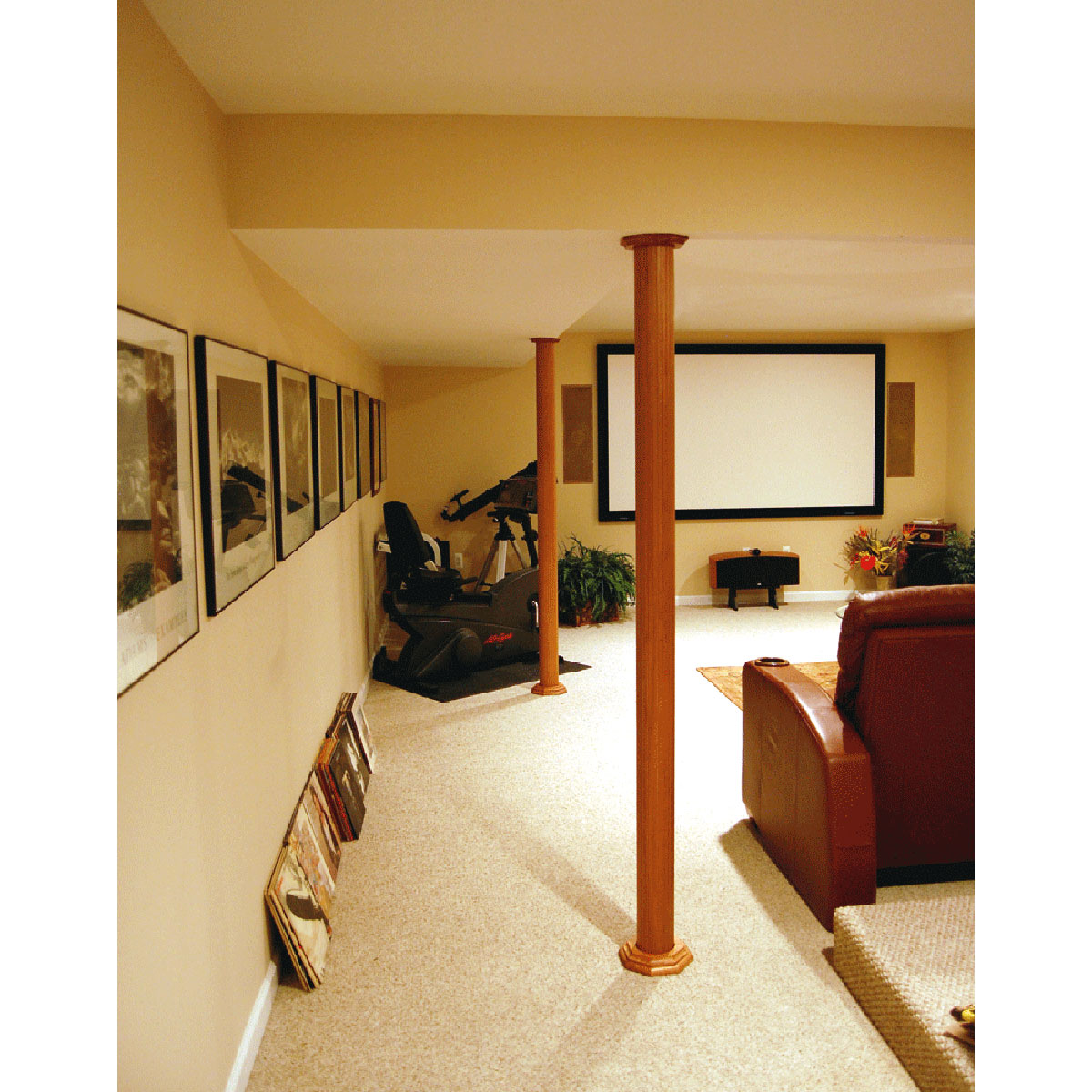 Luxury Basement Lally Column Covers