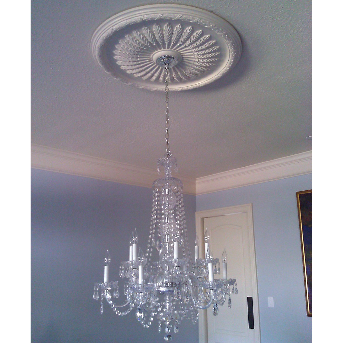 chandeliers on medallion pinterest for ceiling s medallions lindalcoffey ceilings interior best blankets images