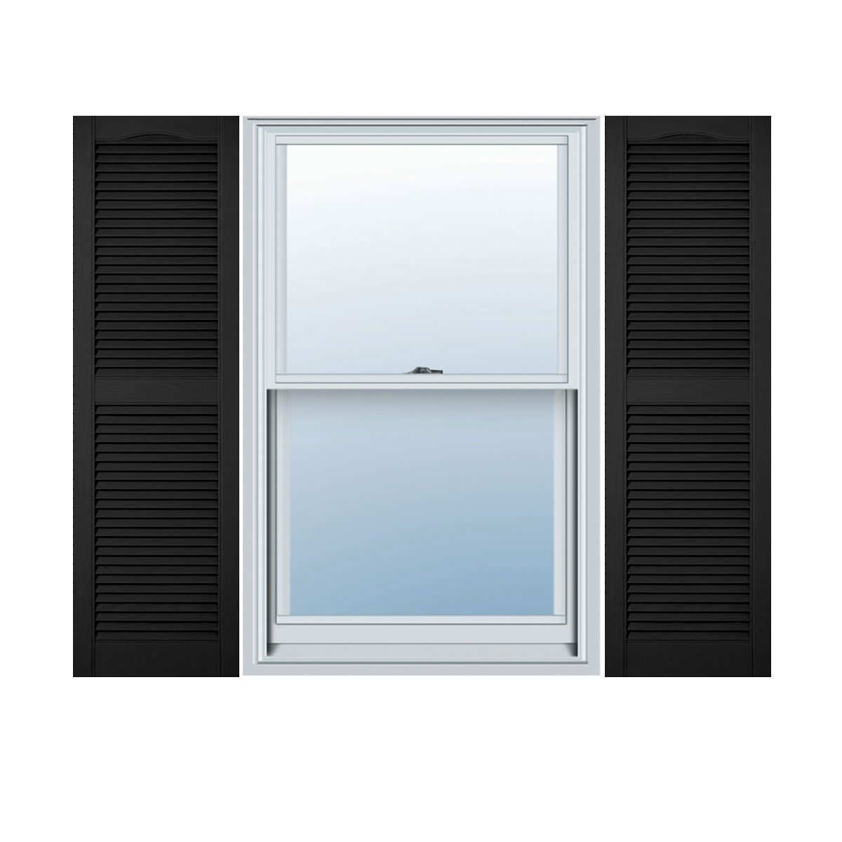 1 Pair 14.5 x 67 166 Midnight Blue Mid America Cathedral Open Louver Vinyl Standard Shutter
