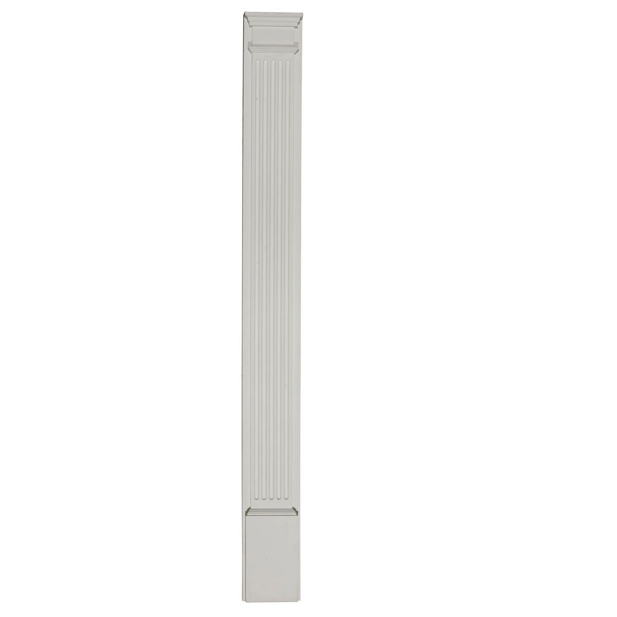 Ekena Millwork Pil 01 Fluted Pilaster With Attached Plinth