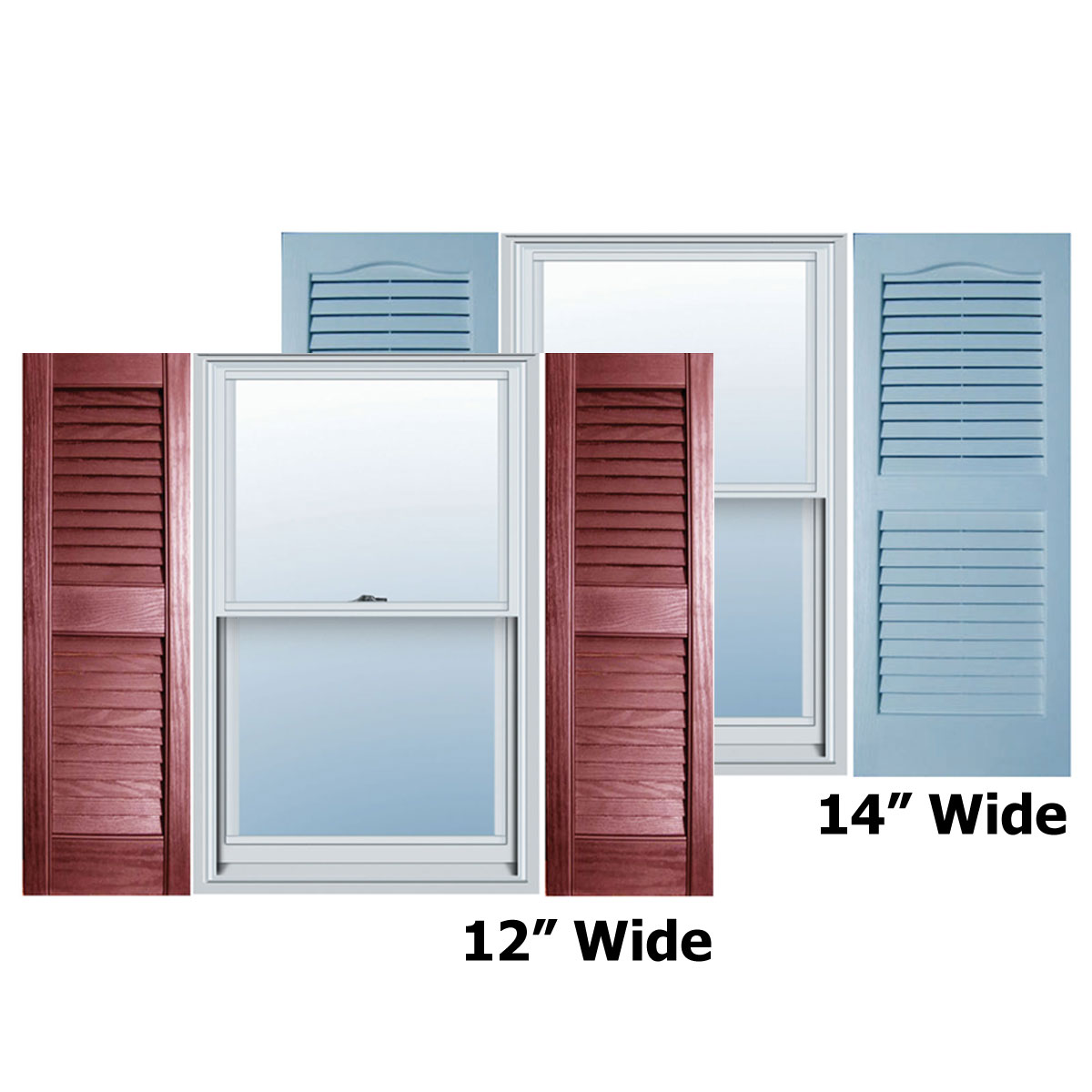 Alpha systems llc evl builders choice vinyl open louver wind for Exterior louvered window shutters