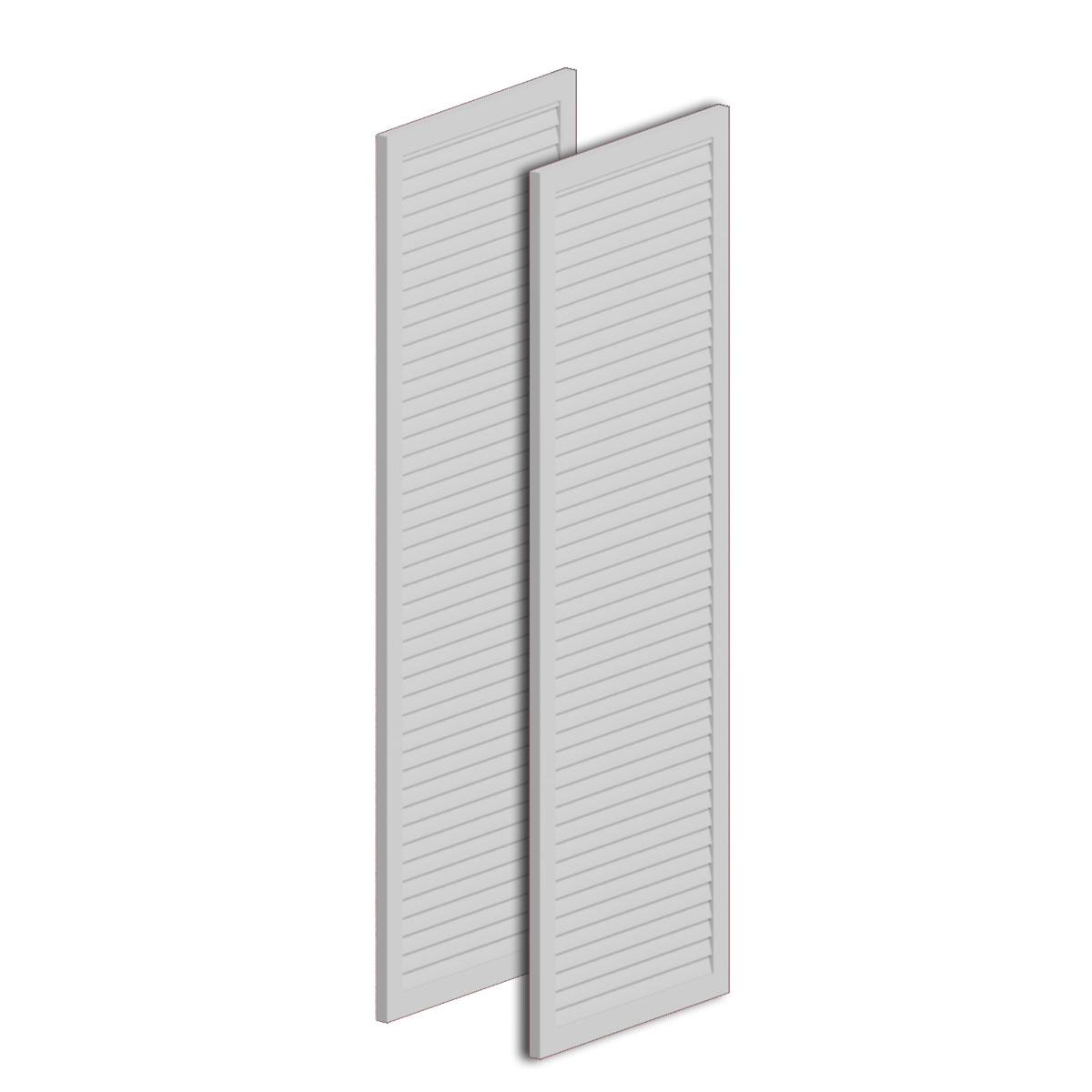Fypon ltd lvsh24x60fnb 24 inch w x 60 inch h x 1 inch p lo for Fypon exterior shutters