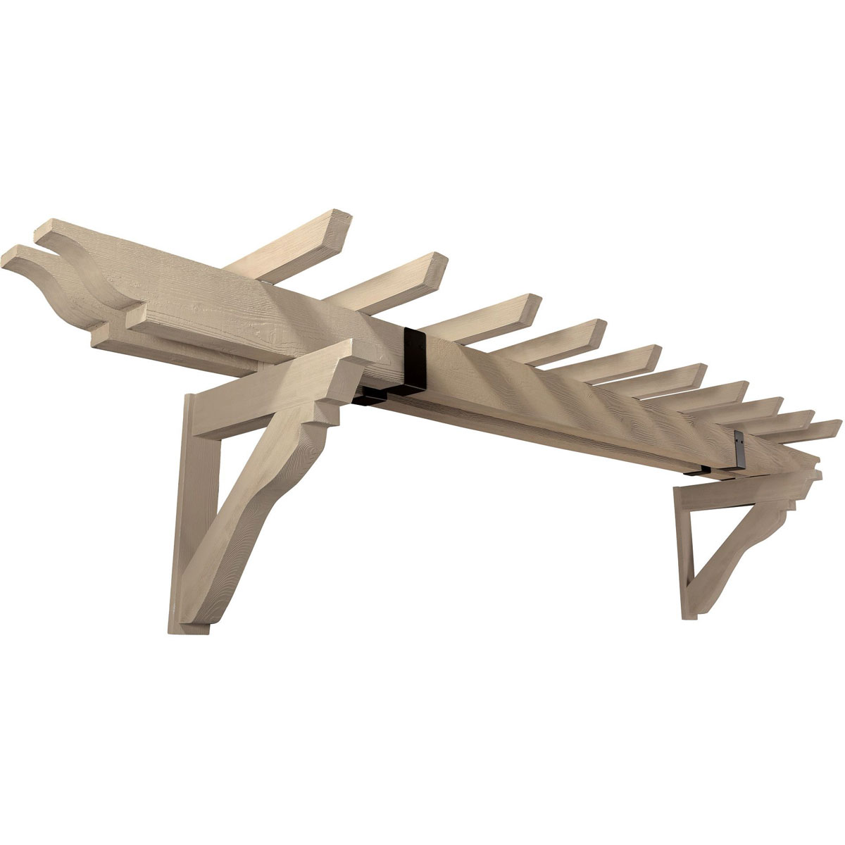 Fypon ltd trls18987 timber trellis system fits 16 39 18 39 ga for Fypon wood beams