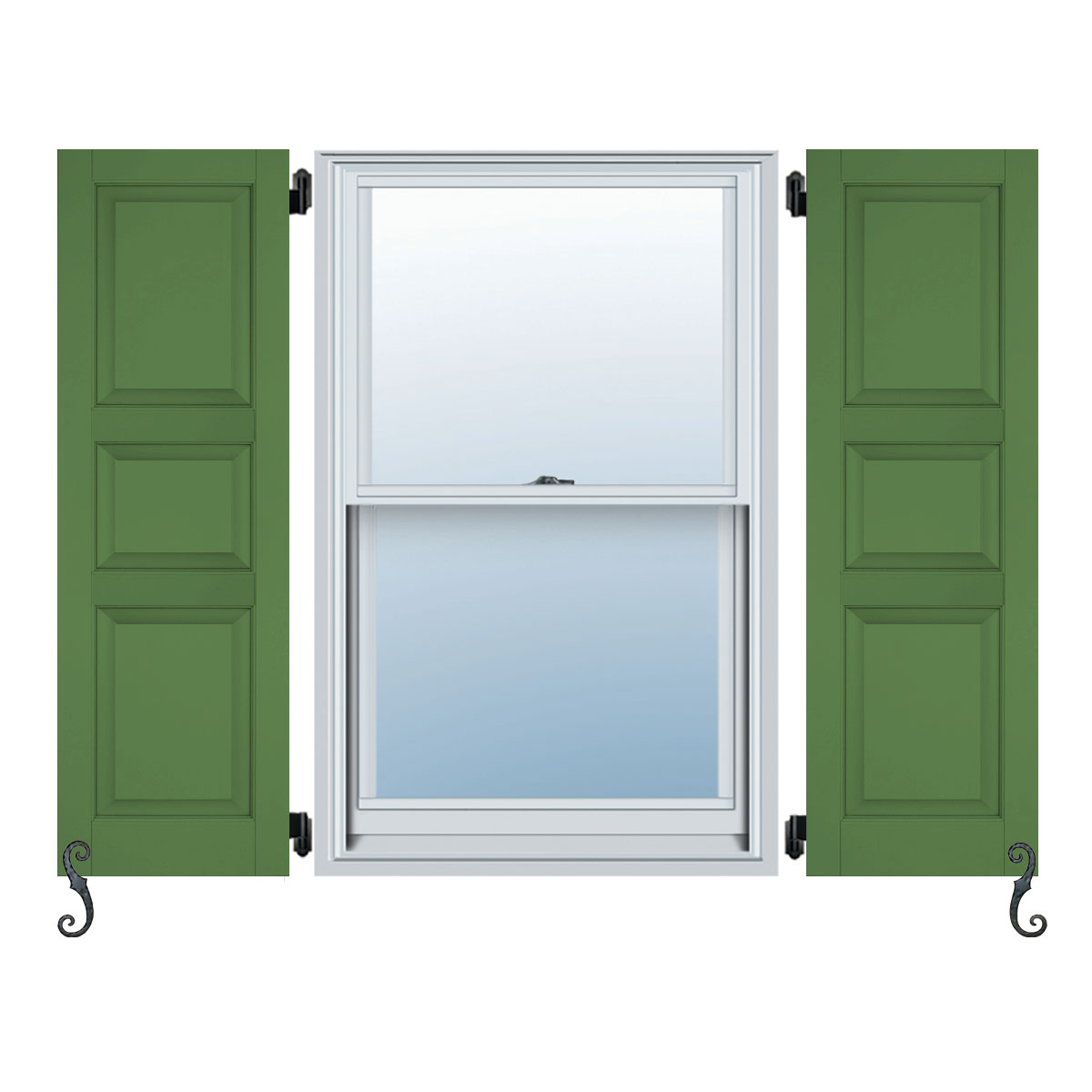 Atlantic Classic Three Panel Small Center 40 20 40 Raised Panel Shutters Per Pair