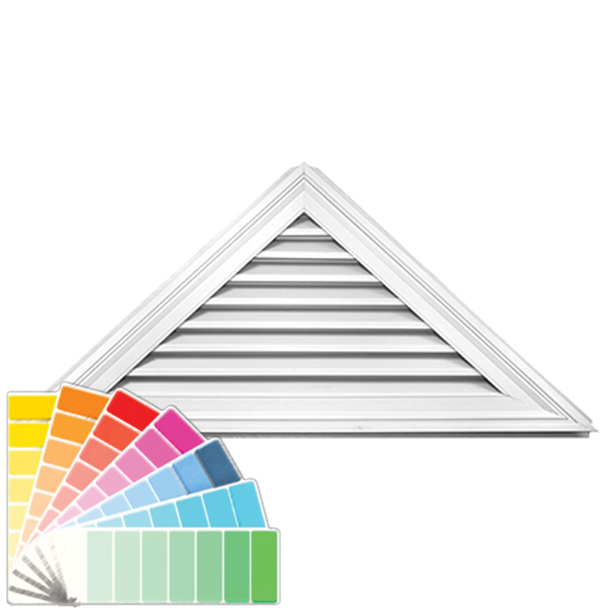 Mid America 00471108 26 Inch H X 56 Inch W Triangle Gable Ve