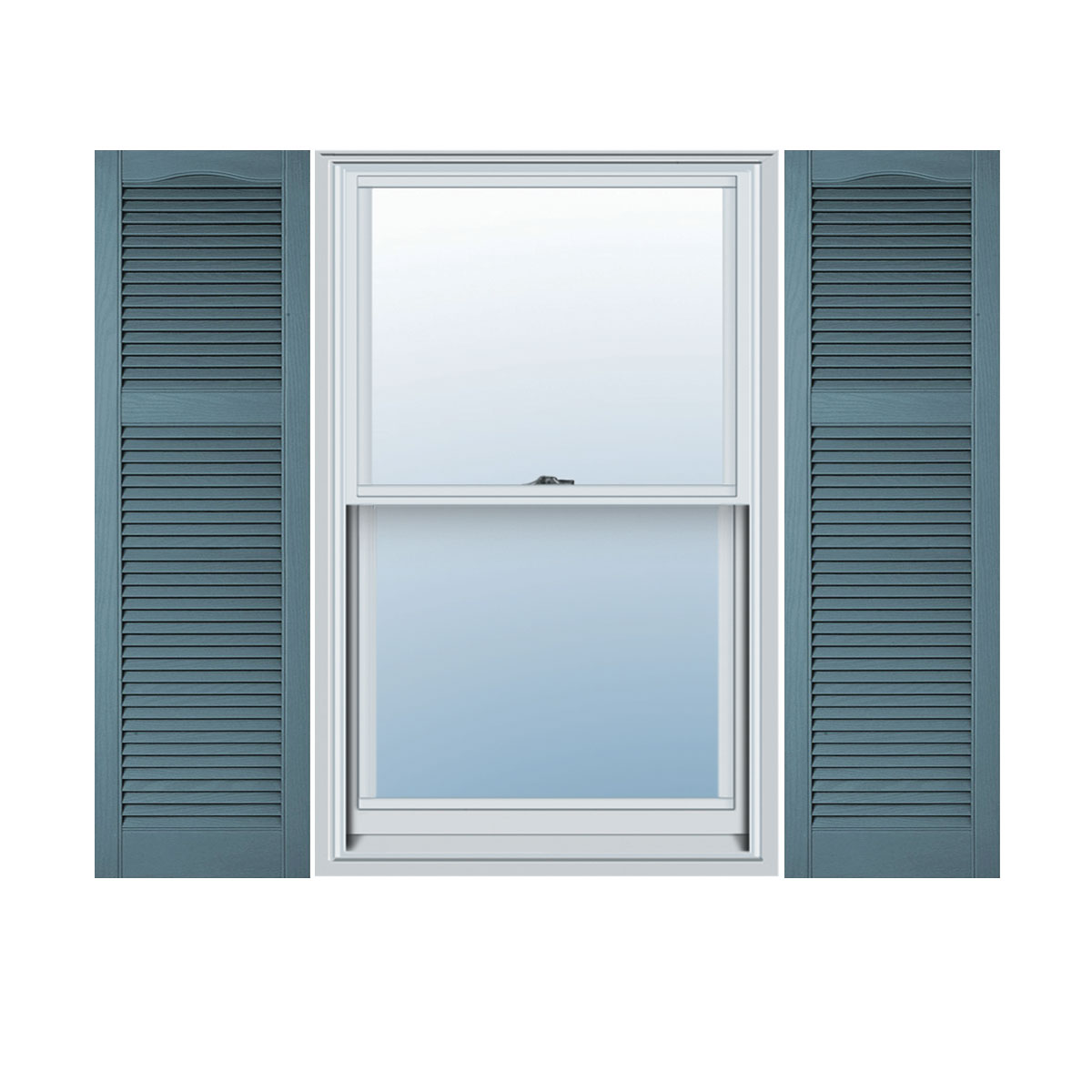 1200 #466A85 Size Cathedral Top Offset Mullion Vinyl Open Louver Window Shutters  wallpaper Vinyl Louvered Doors 29951200
