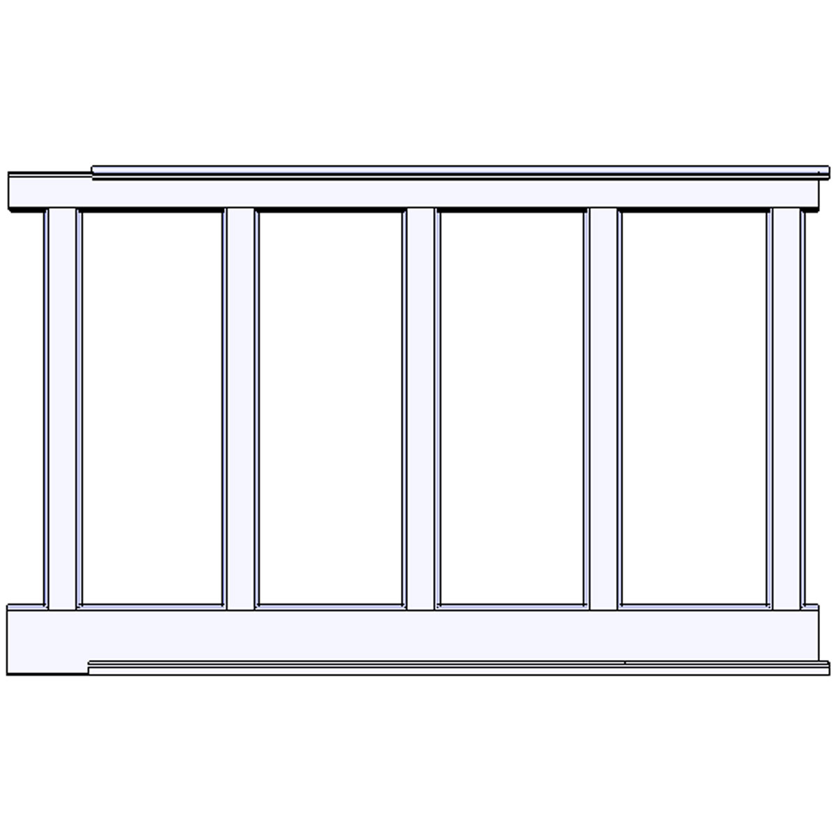 Wainscot Paneling Kit: Elite Trimworks Corp. RCW-60 Recessed, Wall Paneled Wainscot