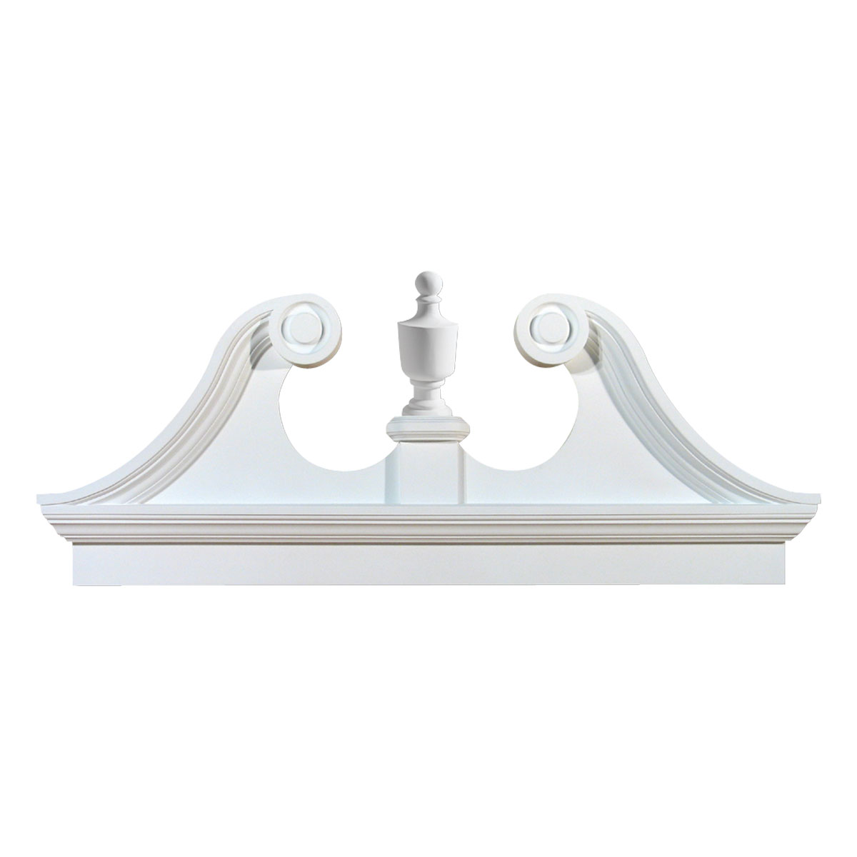 inch ow x 27 inch h x 3 1 8 inch p combination rams head pediment