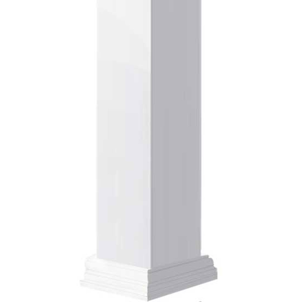 Non-Tapered Fluted Endura-Craft Craftsman Column Wrap 10 Square Shaft x 6 Overall Height Standard Base /& Capital Cellular PVC